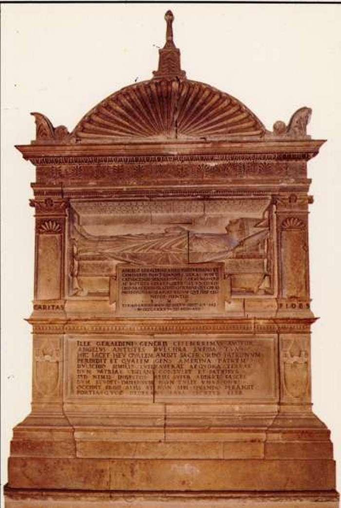 Amelia, Chiesa di San Francesco, Cappella Geraldini:                           Tomba del Vescovo Angelo Geraldini di Amelia.<br>                           Andrea Bregno (1418-1503)